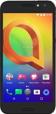 Image of Alcatel A3 (16GB Black) at £89.99 on Pay As You Go Data Pack with 10 mins; 10 texts; 100MB of 4G Double-Speed data. Extras: Top-up required: £10.