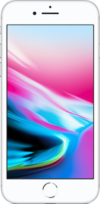 Apple iPhone 8 (256GB Silver) at £849.00 on International SIM with 100MB of 4G data. Extras: Top-up required: £10.