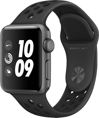 Apple Watch Series 3 Nike+ 42mm (GPS+Cellular) Space Grey Aluminium Case with Anthracite/Black Nike Sport Band cheapest retail price