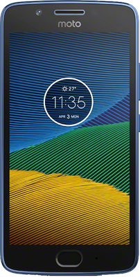 Moto G5 (16GB Sapphire Blue Refurbished Grade A) at £79.00 on Big Bundle 8GB with 2000 mins; 5000 texts; 8000MB of 4G data. Extras: Top-up required: £20.