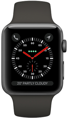 Apple Watch Series 3 42mm (GPS+Cellular) Space Grey Aluminium Case with Grey Sport Band cheapest retail price