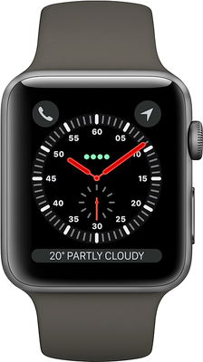 Compare prices with Phone Retailers Comaprison to buy a Apple Watch Series 3 42mm (GPS+Cellular) Space Grey Aluminium Case with Grey Sport Band