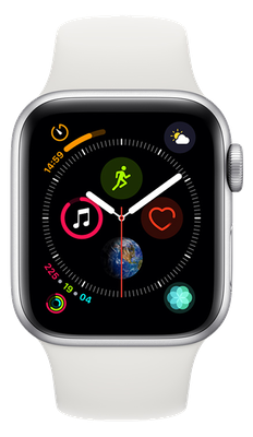 Apple Watch Series 4 40mm(GPS) Silver Aluminium Case with White Sport Band cheapest retail price