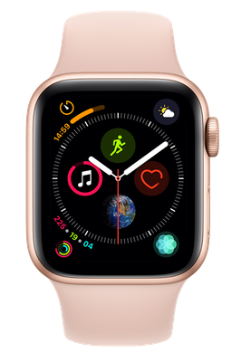 Buy Brand New Apple Watch Series 4 40mm(GPS) Gold Aluminium Case with Pink Sand Sport Band