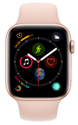 Buy Brand New Apple Watch Series 4 44 mm (GPS+Cellular) Gold Aluminium Case with Pink Sand Sport Band