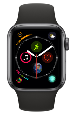 Apple Watch Series 4 40 mm (GPS+Cellular) Space Grey Aluminium Case with Black Sport Band cheapest retail price