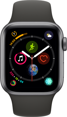 Compare prices with Phone Retailers Comaprison to buy a Apple Watch Series 4 40 mm (GPS+Cellular) Space Grey Aluminium Case with Black Sport Band