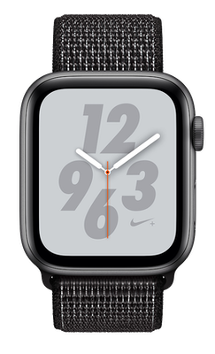 Apple Watch Series 4 Nike+ 44mm (GPS) Space Grey Aluminium Case with Black Nike Sport Loop cheapest retail price