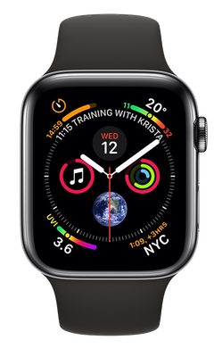 Apple Watch Series 4 44 mm (GPS+Cellular) Space Black Stainless Steel Case with Black Sport Band cheapest retail price