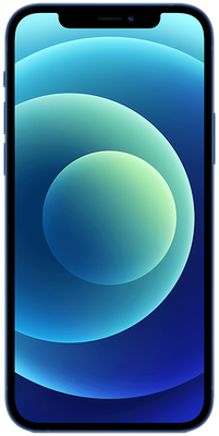 Blue Apple iPhone 12 5G 128GB - 0GB Data, £210.00 Upfront£27.00 off for 6 months