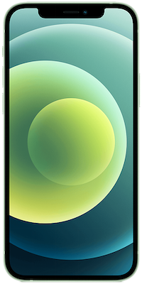 Green Apple iPhone 12 5G 128GB - 0GB Data, £210.00 Upfront£27.00 off for 6 months
