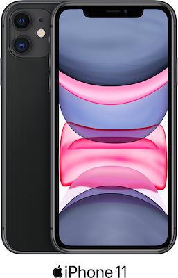 Black Apple iPhone 11 64GB - 100GB Data, £29.00 Upfront
