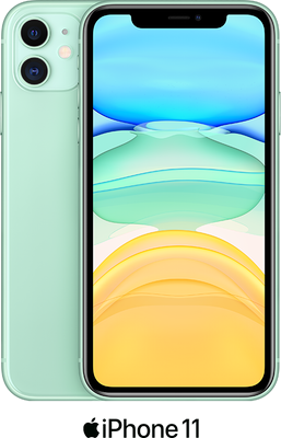 Green Apple iPhone 11 64GB - 100GB Data, £29.00 Upfront