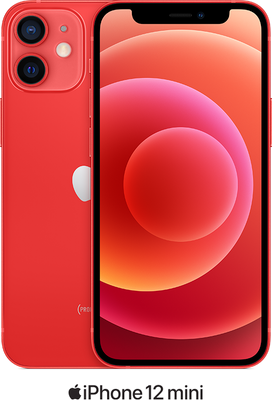 Red Apple iPhone 12 Mini 5G 128GB - Unlimited Data, £90.00 Upfront