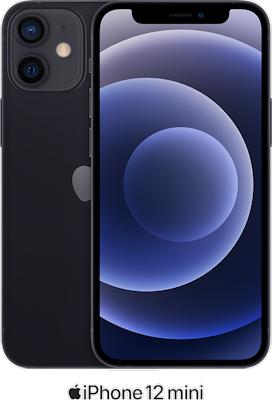 Black Apple iPhone 12 Mini 5G 64GB with free Beats Powerbeats Pro (Black) - Unlimited Data, £29.00 Upfront