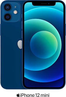 Blue Apple iPhone 12 Mini 5G 128GB - Unlimited Data, £90.00 Upfront