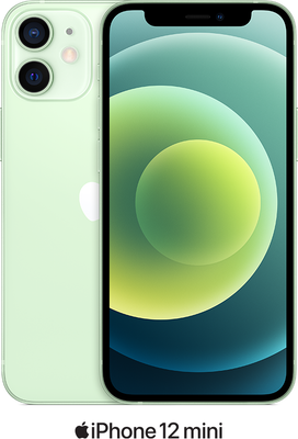 Green Apple iPhone 12 Mini 5G 64GB - 100GB Data, £19.00 Upfront