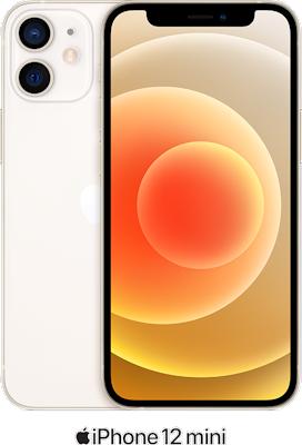 White Apple iPhone 12 Mini 5G 64GB - 100GB Data, £19.00 Upfront