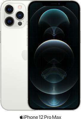 Silver Apple iPhone 12 Pro Max 5G 128GB with free Beats Powerbeats Pro (Black) - 30GB Data, £99.00 Upfront