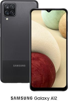 Black Samsung Galaxy A12 64GB - Unlimited Data, No Upfront