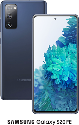 Blue Samsung Galaxy S20 FE 4G 128GB with free Samsung Galaxy Earbuds Live (Black) - Unlimited Data, £29.00 Upfront50% off...
