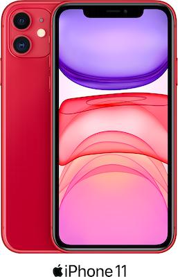 Red Apple iPhone 11 64GB - 100GB Data, £29.00 Upfront