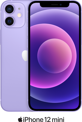 Purple Apple iPhone 12 Mini 5G 64GB with free Beats Powerbeats Pro (Black) - Unlimited Data, £29.00 Upfront