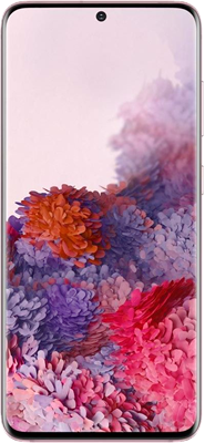 Pink Samsung Galaxy S20 5G 128GB with free Samsung Galaxy Earbuds Live (Black) - Unlimited Data, No Upfront
