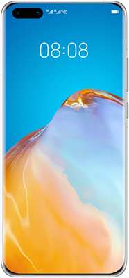 Silver Huawei P40 Pro 5G Dual SIM 256GB - 0GB Data, £29.00 Upfront£29.00 off for 6 months